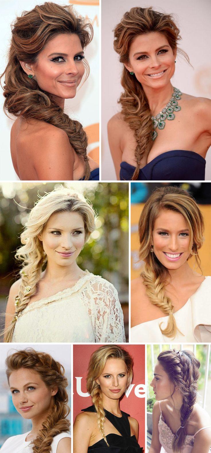 inspiração de penteados com tranças laterais