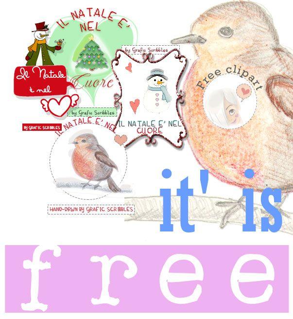 Free Clipart Natalizie e una scusa ai Pettirosso Alcuni giorni fa ho avuto modo di osservare un dolcissimo Pettirosso...uccellino che sempre mi ricorda il Natale, infatti si fa vivo in inverno...ho voluto disegnarlo e ricordare quel momento.......il mio disegno chiaramente non rende giustizia....mi scuso ufficialmente con tutti i pettirosso! #pettirosso #uccellini #clipart #immagini #Natale #cuore #pupazzodineve #abete #decorazioni #addobbi