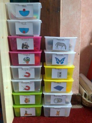 Avec des boites ikea, une réserve de tri à proposer!!!