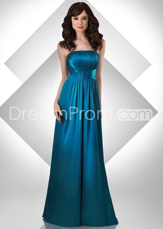 Charming Pleats Strapless Floor-Length Bridesmaid Dresseses