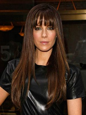 This is it Maddie!!Hair Colors, Straight Hair, Long Hair, Kate Beckin, Bangs, Beautiful Tips, Celebrities Hairstyles, Brown Hair, Beautiful Trends