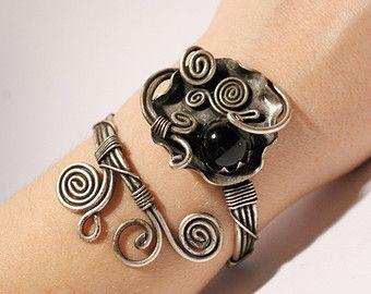 statement bracelet,jade bracelet- wire wrapped jewelry handmade,jade cuff bracelet,jade jewellery,silver jewelry