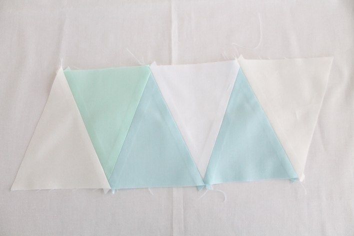 How to sew an isosceles triangle quilt without staggering the points.