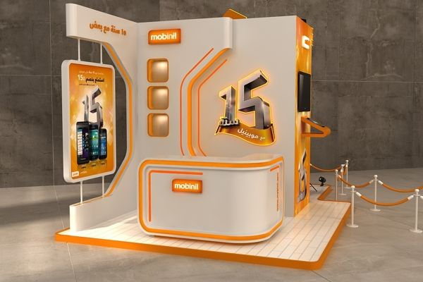 Mobinil 15 years in egypt celebration booth on Behance