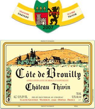 Cote de Brouilly Chateau Thivin