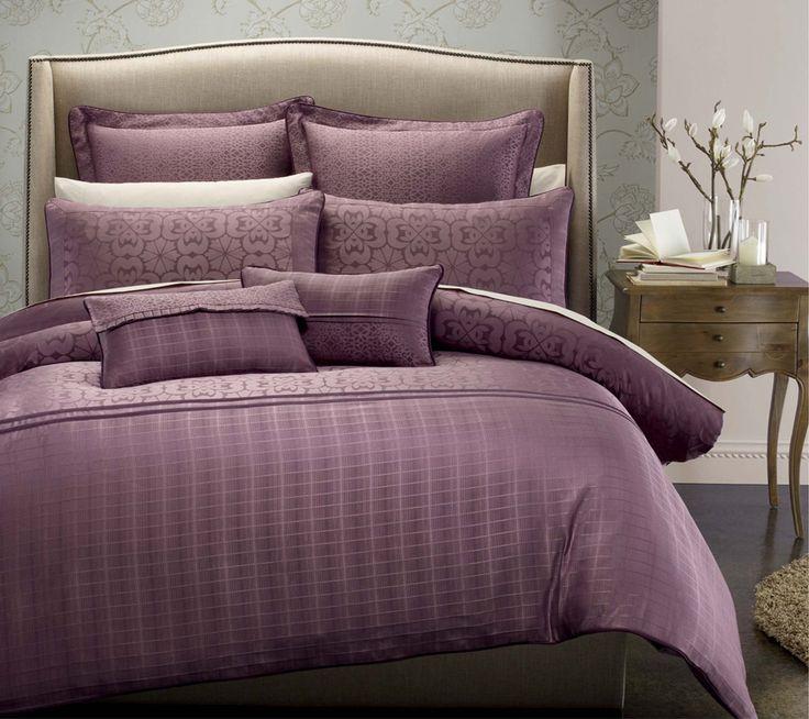 comfortable tasteful bedroom decoration with purple bed cover duvet cover setsplum comforter setluxury