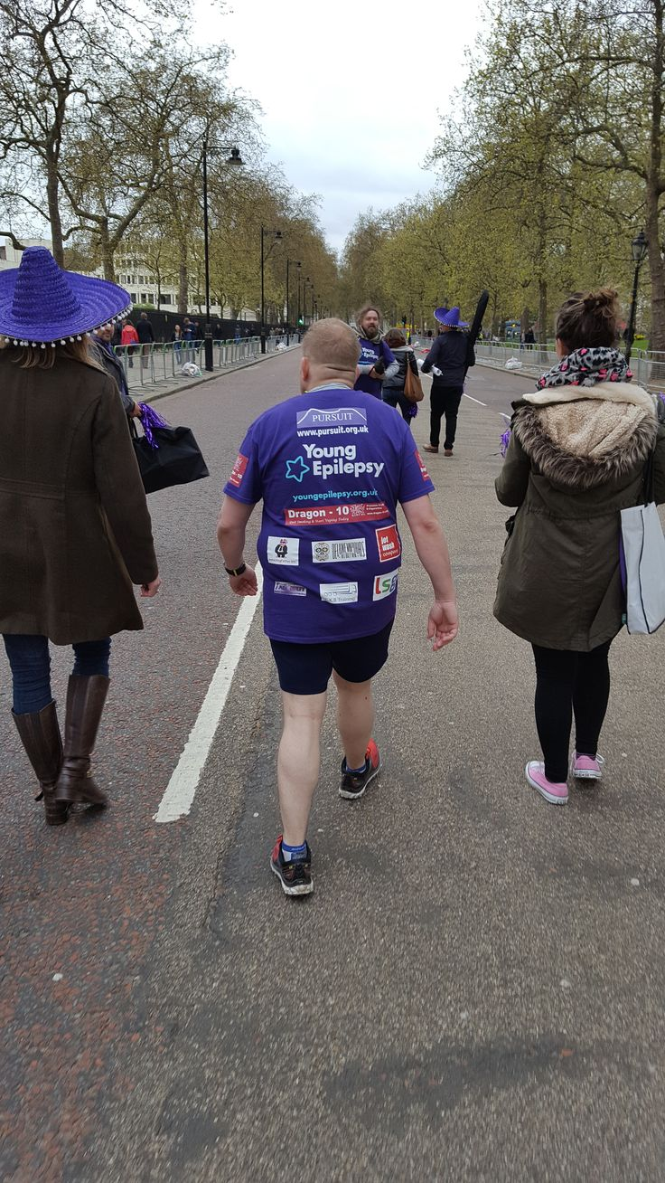 One of our runners, Wayne suffered a calf injury at mile 5 and was unable to run for the rest of the track. Young Epilepsy stuck around and walked with him to the finish line. An emotional end to the London Marathon for our team.
