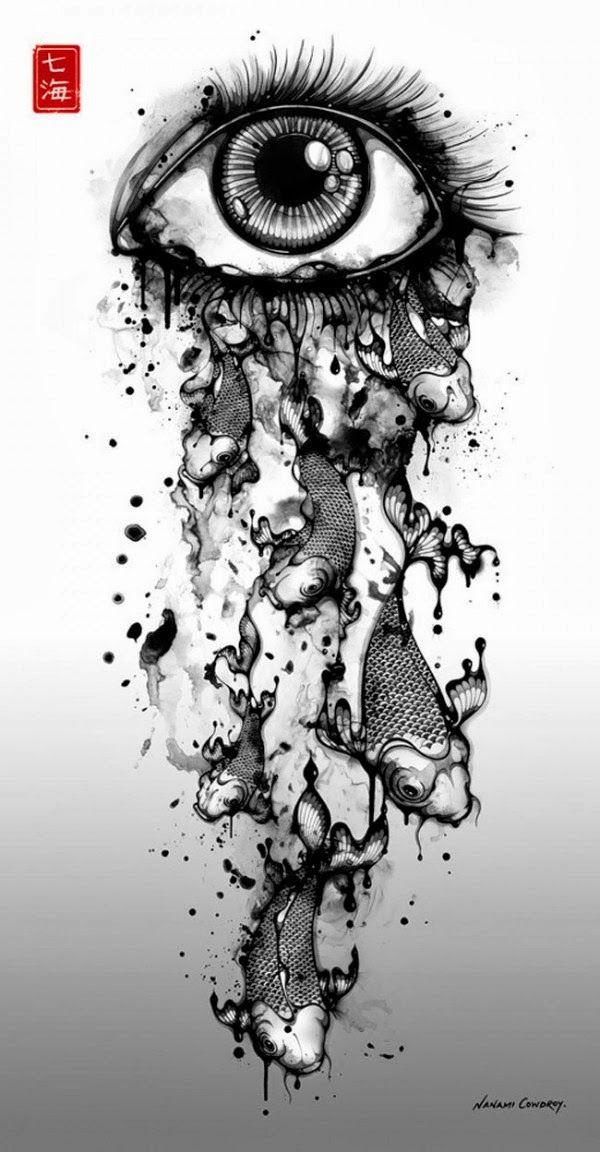 Hosber Art - Blog de Arte & Diseño.: Ilustraciones en blanco y negro de Nanami Cowdroy