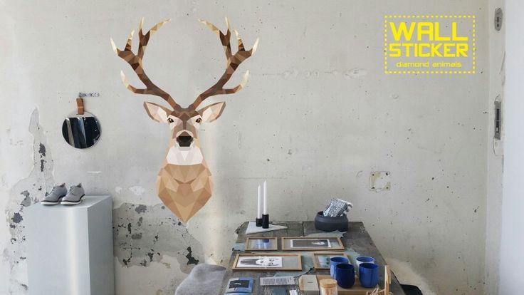 Wallsticker studio bluebird, diamond animals collection.
