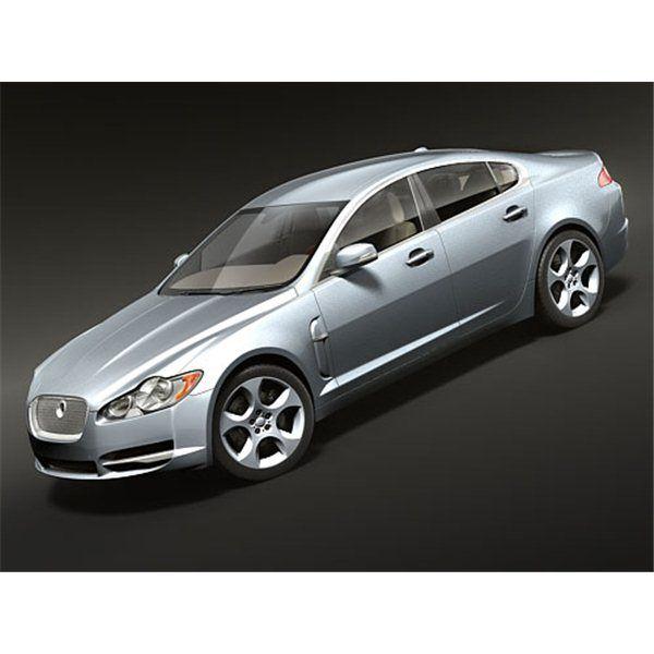 Jaguar Xf Sportbrake 2012 3d Model: Jaguar Xf, Kia Optima, 3d Model