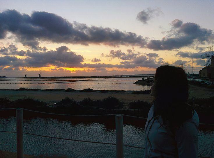 Chiara Magi - Sicilian Vibes - Sunset at Marsala's salt ponds in the winter