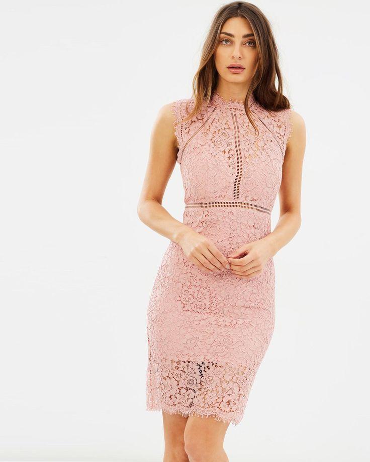 Bardot Lace Panel Dress   The Iconic