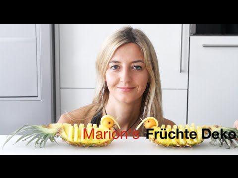 Tropische Früchte als Party Deko: Melone, Mango, Ananas - Obst schneiden + anrichten - lustige Tiere - YouTube