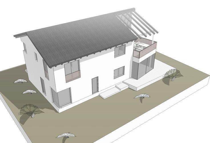 Projekt: Einfamilienhaus mit Einliegerwohnung, Diesen am Ammersee Ortsteil Riederau Aufgabe:» Visualisierung für den Bauherrn zur Entscheidungsfindung, 2013 #Folkmer #EFH #Visual #3dSketch