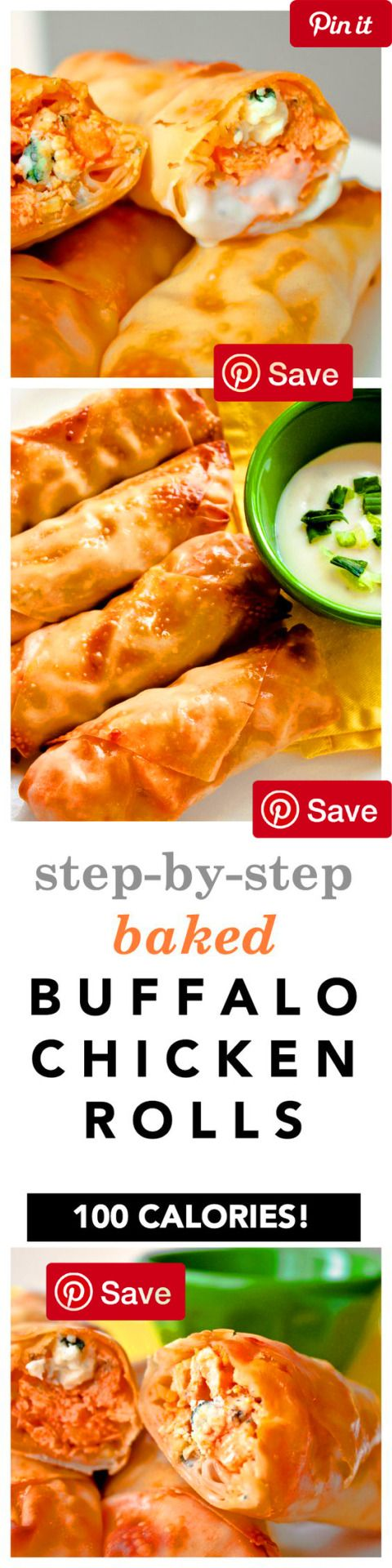 Baked Buffalo Chicken Rolls Makes 12 Rolls Ingredients Meat diys 1 cup Chicken cooked and shredded  cup Franks red hot sauce Condiments 1 Blue cheese dressing Bread & Baked Goods 12 Egg roll wrappers Dairy 1 cup Blue cheese Deli 1 cup Broccoli slaw or coleslaw dry