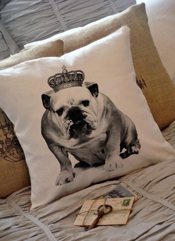 Printable bulldog image.