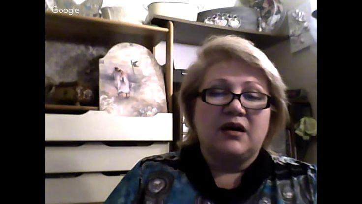Трансляция (2017-03-06) Марина Трублина, декор шкатулки самодельными накладными элементами. Декупаж. В преддверии весны