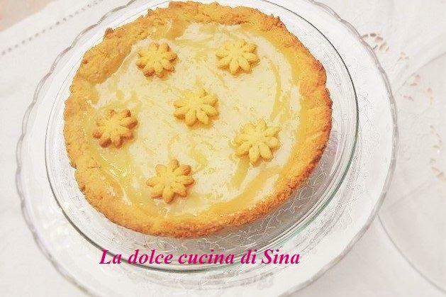 Crostata con crema al limone senza latte