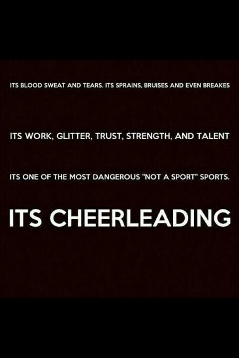This is so true. You have to trust everyone that you are stunting with. If a stunt falls, the flyer has to be able to trust that her bases and back spot will catch her. Everything in this; is absolutely true!