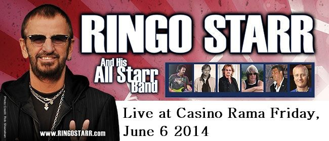 Just Announced! Ringo Starr & His All Star Band live at Casino Rama Friday, June 6 2014  #RingoStarr #thebeatles #casinorama