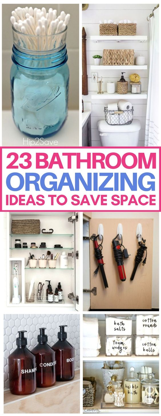 These small bathroom organization hacks are brilliant and will save so much space in my apartment's tiny bathroom! Love the bathroom organizing ideas including storage solutions for toiletries, hair tools, and beauty products. #bathroom #organizationErica   She Tried What