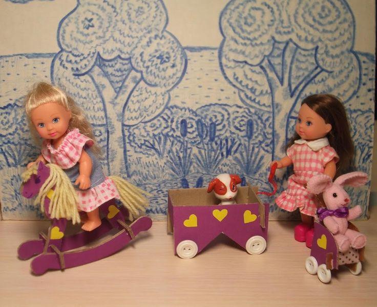 Сегодня делаем игрушки для кукол-малышек (до 16см высотой). / Домики для кукол, мебель своими руками. Коляски, кроватки и другое / Бэйбики. Куклы фото. Одежда для кукол