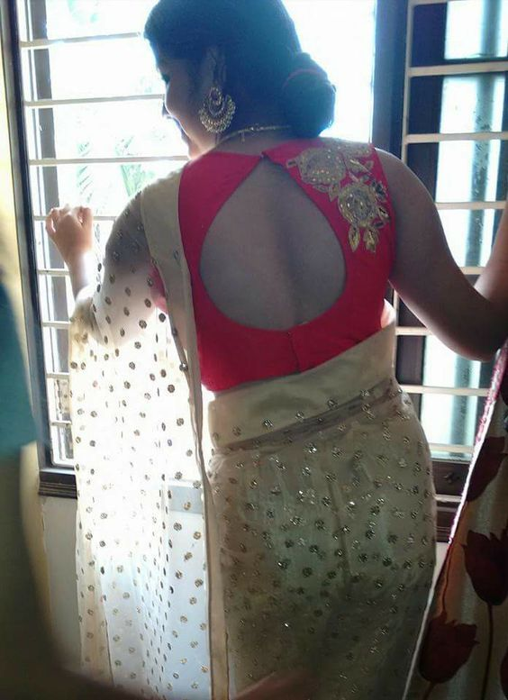 blouse with deep cut design