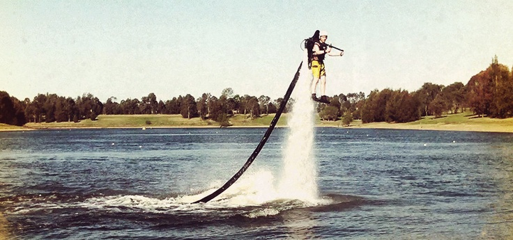 Blast-off in a Jet Pack! Iron Man eat your heart out   Sydney