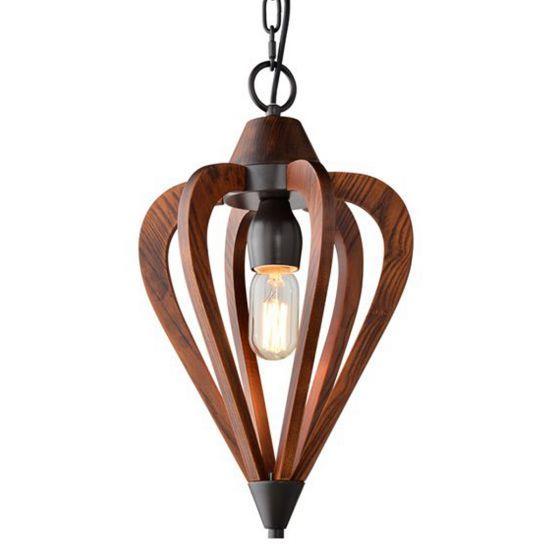 CLA Lighting Senorita Wooden Pendant light -Small