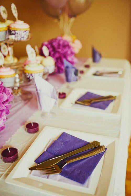 Hochzeitsdeko in lila/Violett