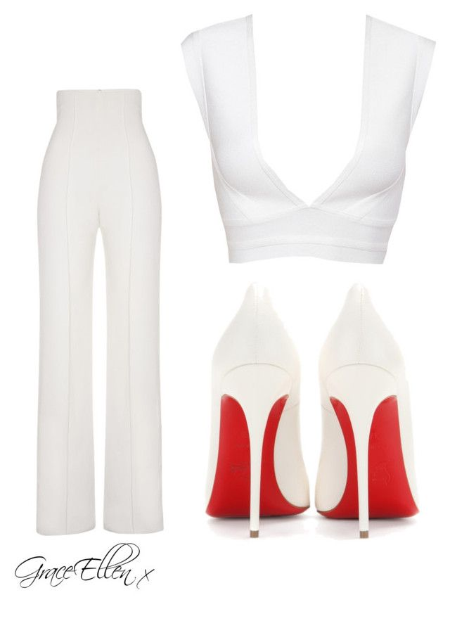 Untitled #24 by miss-grace-ellen on Polyvore featuring polyvore fashion style Yves Saint Laurent Christian Louboutin clothing