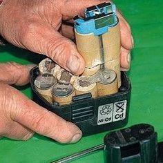 Conseils pratiques bricolage sur Outillage : changer les accus d'une batterie (Tout réparer)