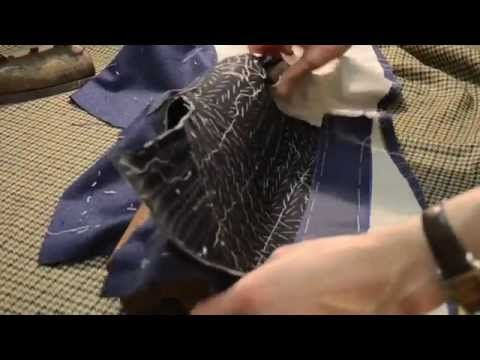 The Making of a Coat #24   Shaping the Front Edges, Pt 2 - YouTube