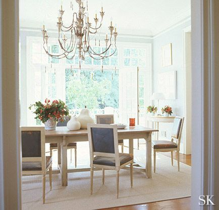 Transitional Dining Room In Ashworth Court By Suzanne Kasler