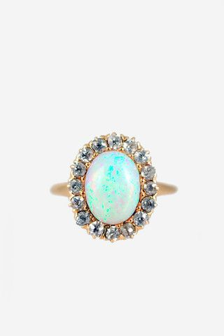 opal + diamond vintage ring. loveee!
