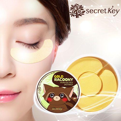 [Secretkey HQ]Gold Racoony Hydrogel Eye Spot Patch/innisfree/Missha/IOPE/Etude #Secretkey