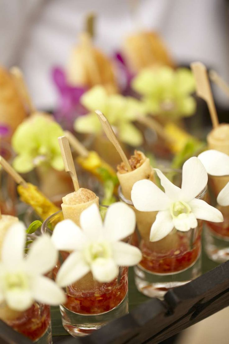 Every detail is looked after, down to these beautifully presented canapes #farawayweddings #weddingsinthailand #pawanthornluxuryvillas
