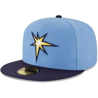 New Era Tampa Bay Rays Light Blue Road Diamond Era 59FIFTY Fitted Hat #rays #tampa #mlb