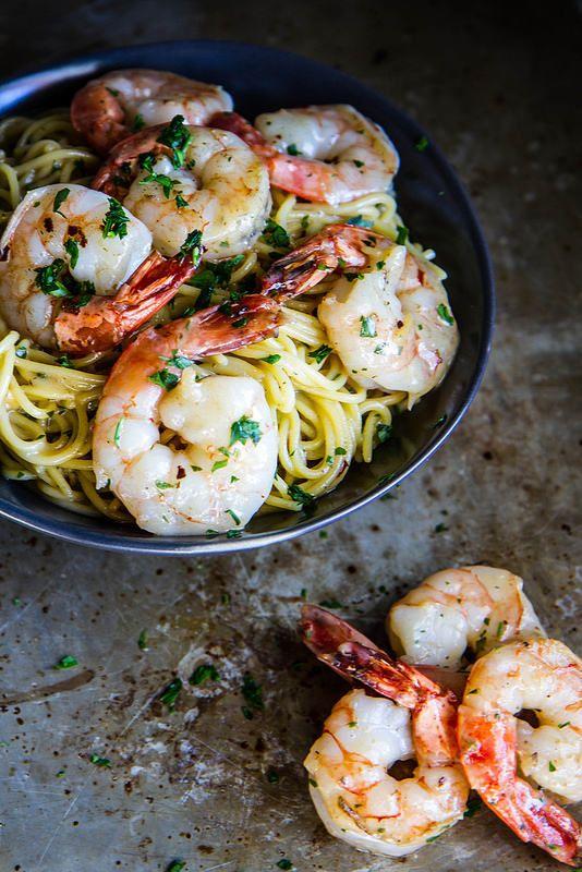 Shrimp Scampi (gluten and dairy free