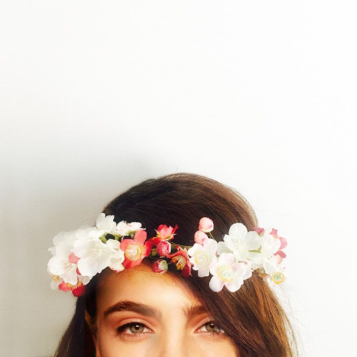 This crown ishandcrafted with cherry blossom flowers. Perfect for your engagement, bridal shower or hen's night; you can wear it confidently knowing it won't wilt or fall apart throughout the day. We love that you can wear it again after your special event or keep it as a treasured memento