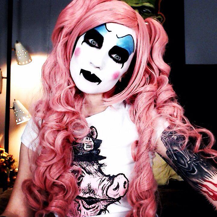 Captain Spaulding halloween cosplay crossplay makeup clown IG @ TheTrashMask