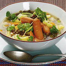 fr.WeightWatchers.be - Recette Weight Watchers - Soupe de légumes aux lentilles