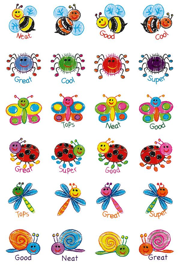 Kid Drawn Bugs Merit Stickers. 96 brightly coloured bugs stickers to reward or decorate.  - See more at: http://www.teachersuperstore.com.au/product/pets-animals/kid-drawn-bugs-merit-stickers/#sthash.4i9CLsxq.dpuf