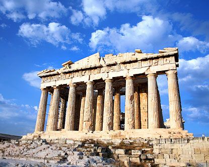Have a picture taken in-between the columns of the Acropolis.