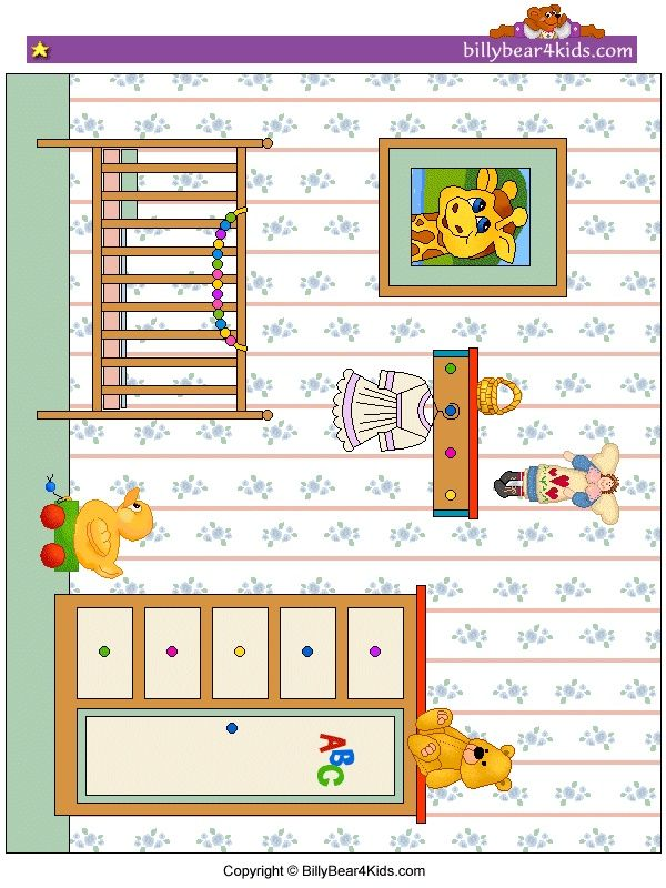 baby room art for paper doll play