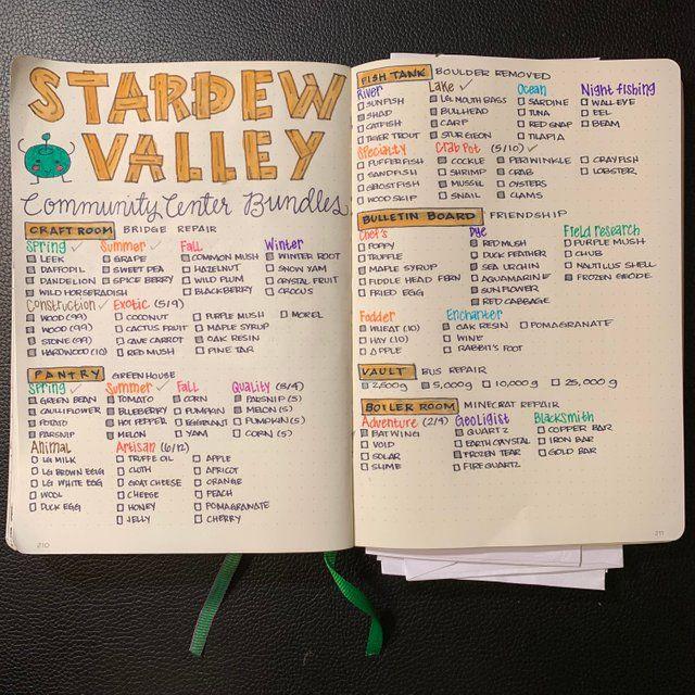 Bullet Journal Stardew Valley Tips Stardew Valley Pretty Journals