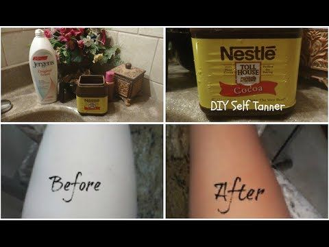 DIY Self Tanning Lotion | Cocoa Powder  A cheap and easy way to give the appearance of a tan without leaving streaks and making your orange!