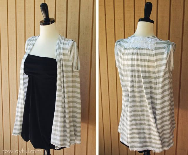 How Joyful | Upcycle: T-shirts to Summer vest tutorial