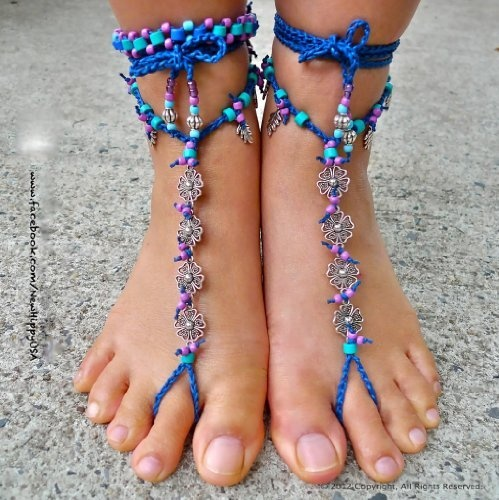 $48   4 Flowers Hippy - Barefoot Sandals by The New Hippy, http://www.amazon.com/dp/B00A1WW5GE/ref=cm_sw_r_pi_dp_54DNqb08H0CVJ