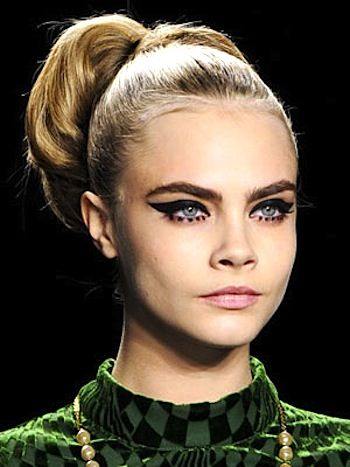 Makeup Trends 2013/2014, Photos: Couture Makeup Looks To Wear Every Day: Winged Liner, Bold Red Lips, Fresh Face